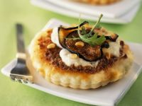 Eggplant, Tomato and Mozzarella Tarts recipe