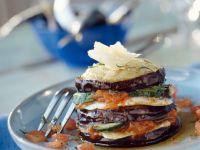 Eggplant Tower with Tomato and Zucchini recipe