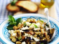 Eggplant with Mint and Feta recipe