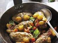 Eggplant with Tomatoes and Basil recipe