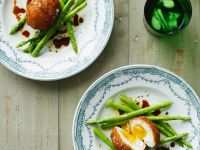 Eggs Fried with Asparagus recipe