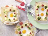 Eggs in Potato Nests recipe