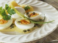 Eggs with Mustard Cream Sauce recipe