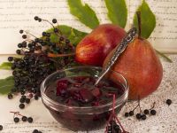 Elderberry and Pear Compote