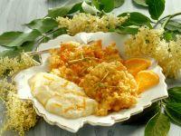 Elderflower Fritters with Orange Cream recipe