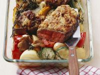 Entrecote Steaks with Roasted Vegetables recipe