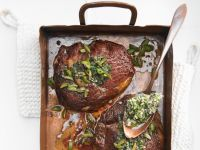 Entrecote with Olive and Anchovy Butter recipe