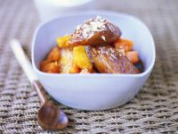 Exotic Baked Fruit with Shredded Coconut recipe