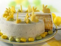 Exotic Fruit Gateau with Easter Decorations recipe