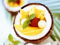 Exotic Fruit Salad with Coconut recipe