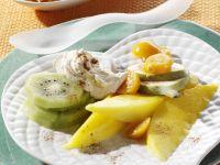 Exotic Fruit with Cream Cheese recipe