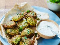 Falafel Patties with Mint Dip recipe