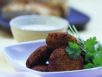 Falafel with Yogurt Sauce recipe