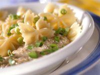 Farfalle Pasta with Tuna Sauce recipe