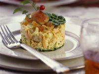 Farmer Salad with Chicken and Raisins recipe