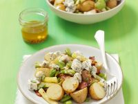 Fava Bean and Potato Salad with Ham and Blue Cheese recipe