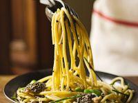 Fava Bean & Mushroom Pasta recipe