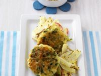 Fennel and Apple Salad with Fish Cakes recipe