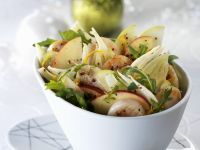 Fennel and Apple Salad with Scallops recipe