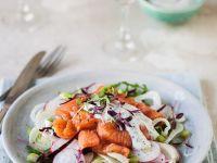 Fennel and Radish Salad with Salmon recipe