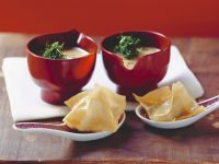 Fennel Soup with Wontons recipe