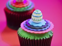 Festive Cakes with Egg Topping recipe