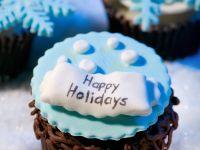 Festive Chocolate Caramel Muffins recipe