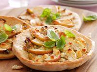 Small Apple and Feta Pizzas recipe