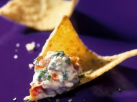 Feta and Garlic Dip with Chips recipe