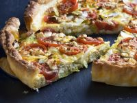 Feta and Vegetable Quiche recipe