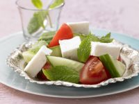 Feta Cheese with Tomato and Cucumber recipe