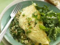Feta, Chile and Arugula Omelets recipe
