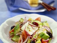 Feta, Cucumber, and Red Onion Salad recipe