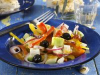 Feta & Red Onion Salad recipe