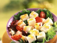 Feta with Tomatoes and Olives recipe