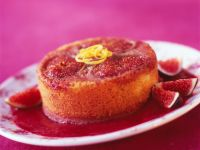 Fig Cake with Raspberry Sauce recipe