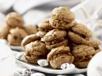Fig Marzipan Filled Chocolate Macaroons recipe