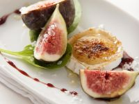 Figs with Goat Cheese and Fine Sea Salt recipe