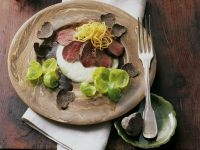 Gourmet Sliced Venison with Sprouts recipe