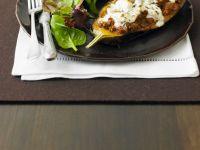 Filled Greek Eggplant Halves recipe