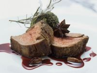 Fillet of Beef with Port Wine Sauce and Kale recipe