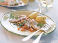 Fillet of  Perch with Tomato Sauce recipe