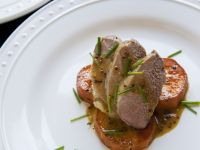 Fillet of Pork with Sweet Potatoes and Mustard Sauce recipe