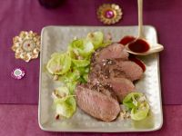 Fillet of Venison with Spaetzle and Fresh Brussels Sprouts recipe