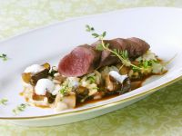 Fillet of Wild Hare with Burgundy Risotto recipe