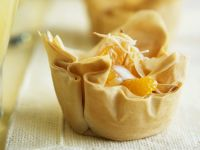 Filo Mandarin Tartlet with Coconut Cream recipe