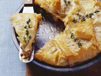 Filo Pastry with Lamb, Feta and Raisins recipe