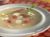 Firm Cheese in Chicken Broth recipe