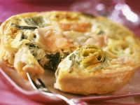 Fish and Egg Tartlets recipe