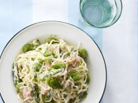 Fish and Fava Pasta Bowl recipe